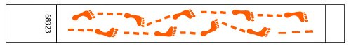 Foot Print Pattern Tyvek Wristbands