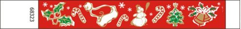 Christmas Design Paper Wristbands