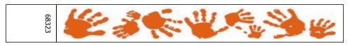 Tyvek® Wristbands - Hand Print