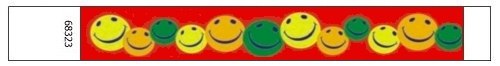 Tyvek® Wristbands - Multi Color Happy face
