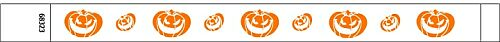 Pumpkin Halloween Tyvek Wristbands