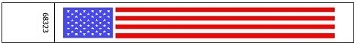 USA Flag Wristbands made of Tyvek�
