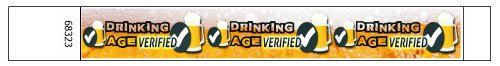 Beer Drinking Age Verified design Paper Wristbands