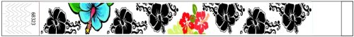 Hawaiian Flowers design Paper Wristbands