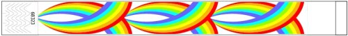 Rainbow Design Paper Wristbands